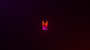 Neon Letter Minimalism Simple Background Gradient 2560x1440 Wallpaper