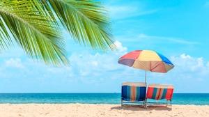 Beach Sky Horizon 2560x1707 Wallpaper
