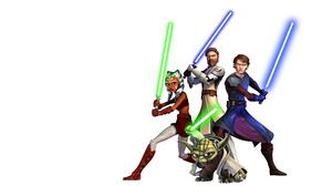 Yoda Jedi Ahsoka Tano Obi Wan Kenobi Anakin Skywalker Lightsaber Green Lightsaber Blue Lightsaber St 2560x1600 Wallpaper