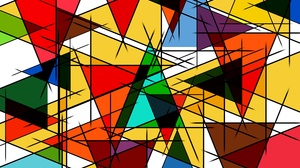 Artistic Colorful Colors Triangle 6000x4000 Wallpaper