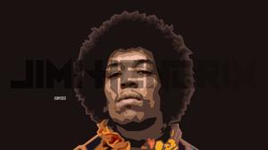 Artistic Geometry Guitarist Jimi Hendrix Music Musician Portrait 2000x1125 Wallpaper