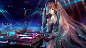 DJ Headphones Hatsune Miku 1280x835 Wallpaper
