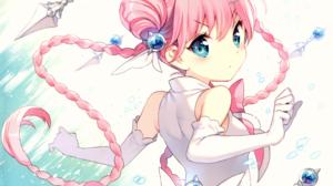 Blue Eyes Braid Glove Long Hair Pink Hair Twintails Bow Clothing 4208x3704 Wallpaper