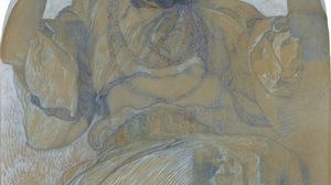 Alphonse Mucha Painting Jaroslava Muchova 1295x1600 wallpaper