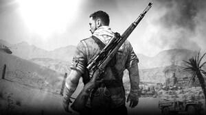 Sniper Elite 3 Sniper Rifle Video Game Characters Video Game Man Rifles Monochrome 1920x1080 Wallpaper