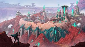 Kory Lynn Hubbell Digital Art Fantasy Art Fantasy City Desert Crystal 1920x1143 Wallpaper