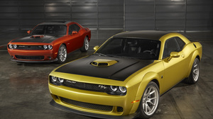 Car Dodge Dodge Challenger Muscle Car Red Car Vehicle Yellow Car 3000x2000 wallpaper