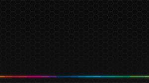 Glowing Hexagon Texture Spectrum Colorful Minimalism 3440x1440 Wallpaper