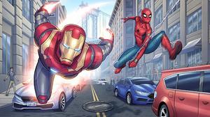 Avengers Iron Man Marvel Comics Spider Man 3840x2486 Wallpaper