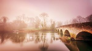 Fog River 3034x1707 Wallpaper