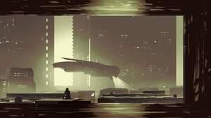 Artwork Science Fiction Futuristic City 2048x1058 Wallpaper
