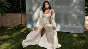 Demi Lovato Women Celebrity Singer Sitting White Dress Brunette 2880x1728 Wallpaper