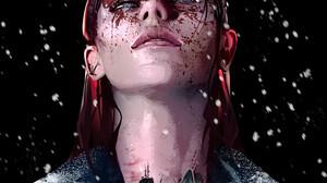 Rashed AlAkroka Portrait Vertical Looking At Viewer Parted Lips Digital Art Women Cyberpunk Black Ba 1000x1570 Wallpaper