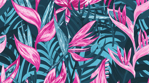 Abstract Flowers Night Jungle Leaves Vector Pattern 6250x6250 Wallpaper