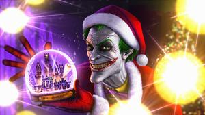 Dc Comics Joker Santa Hat 3840x2160 Wallpaper