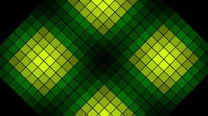 Artistic Digital Art Geometry Green Pattern Square 2880x1777 Wallpaper