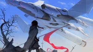 Girl Spaceship 2048x1289 wallpaper