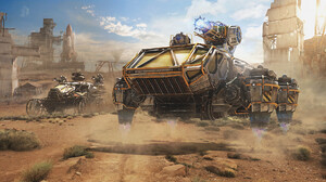 Crossout Video Game Desert Post Apocalyptic Space Shuttle Vehicle 1920x1080 Wallpaper