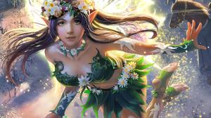Elf Fairy Fantasy Flying Girl Magic Wand 1920x1440 Wallpaper