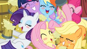Applejack My Little Pony Fluttershy My Little Pony Pinkie Pie Rainbow Dash Rarity My Little Pony Twi 1650x1276 Wallpaper