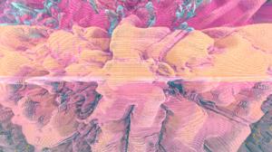 Minimalism Orange Fractal Digital Digital Art 2306x1299 Wallpaper