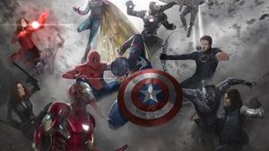 Ant Man Black Widow Captain America Captain America Civil War Falcon Marvel Comics Hawkeye Iron Man  1920x1345 Wallpaper