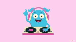 Cute Dj Monster Music 2560x1440 Wallpaper