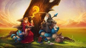 Fantasy Magic Spell Wizard 1920x1080 wallpaper