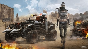 Car Crossout Girl Post Apocalyptic Vehicle Woman 1920x1080 Wallpaper