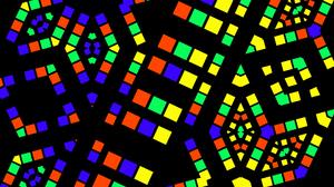 Geometry Symmetry Colorful Digital Art Shapes 1920x1080 Wallpaper