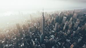 Aerial Building City New York Skyscraper Usa 2048x1365 Wallpaper