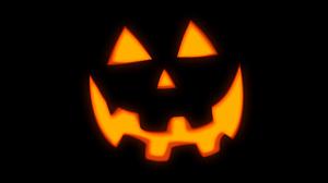 Jack O Lantern Black Background Pumpkin Halloween 5120x2880 Wallpaper