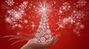 Christmas Christmas Tree Hand Snowflake 5727x3742 Wallpaper