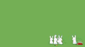 Rabbits Meat Humor Scared Rabbits Green 1920x1080 Wallpaper
