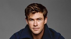 Actor Australian Blue Eyes Chris Hemsworth Face 2200x1238 wallpaper