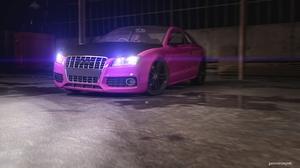 3d Audi Cgi Car Pink Car 5000x2813 Wallpaper