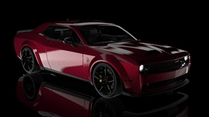 Dodge Challenger Hellcat Dodge Challenger Hellcat Widebody Car 3D Graphics Vehicle Muscle Cars Ameri 7680x4869 Wallpaper