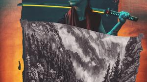 Katana Abstract Glitch Art 4235x4874 Wallpaper