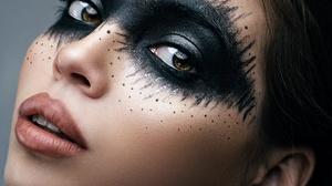 Makeup Brunette Model 1920x1280 wallpaper