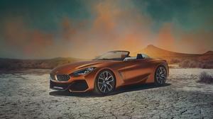 Bmw Car Sport Car Orange Car Desert 7000x3937 Wallpaper
