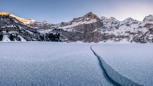 Mountain Sky Snow Switzerland Winter 3840x2160 Wallpaper