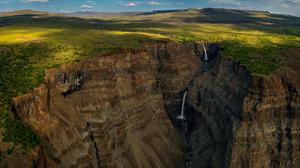 Cliff Earth Landscape Rock Waterfall 2048x1365 Wallpaper