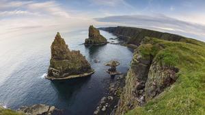 Cliff Coast Coastline Earth Fisheye Horizon Ocean Scotland Sea 2560x1600 Wallpaper