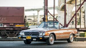Brown Car Car Convertible Luxury Car Mercedes Benz 450sl Old Car Sport Car 2048x1152 Wallpaper