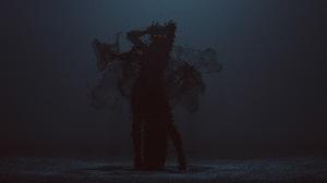 3D Render Artwork Dark Women Mist Ghost Horror Creepy Arms Up Death Shadow Abstract Cube 10000x5625 Wallpaper