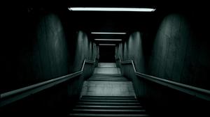 Stairs Dark Fluorescent Green Nature 1920x1200 Wallpaper
