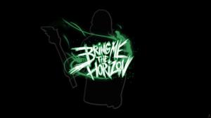 Bring Me The Horizon Metalcore Simple Background Black Background Green 1920x1080 Wallpaper