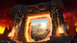 Landscape Digital Art Forange Portal Artwork Warcraft World Of Warcraft 1920x1080 Wallpaper