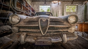 Car Old Vehicle Wreck Alfa Romeo 2994x1675 Wallpaper