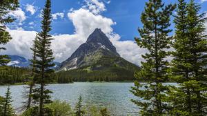 Lake Landscape Mountain Nature Peak Tree 4500x3000 Wallpaper